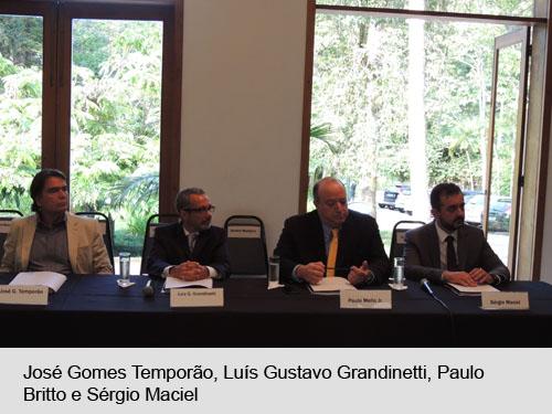 José Gomes Temporão, Luís Gustavo Grandinetti, Paulo Britto Jr. e Sérgio Maciel